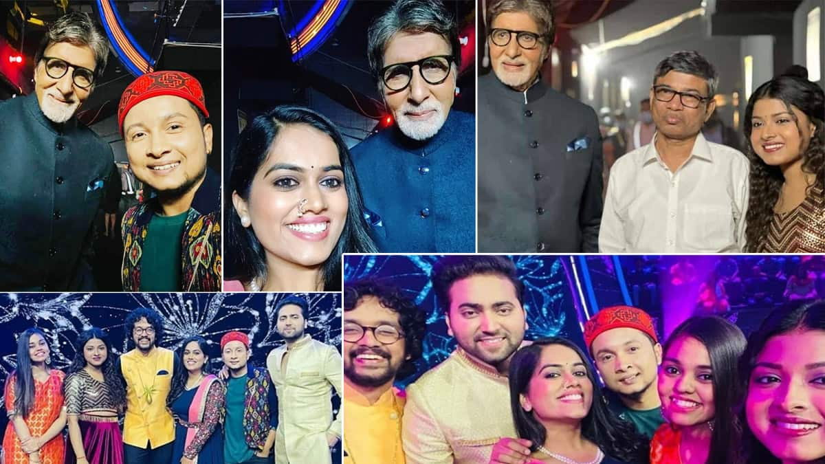 Indian Idol 12 finalists shoot a special episode of KBC 13 with Amitabh Bachchan