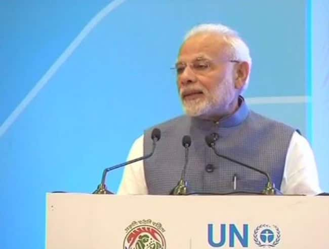 Indians Committed to Save Enviroment   Says PM After Accepting Champions of The Earth Award