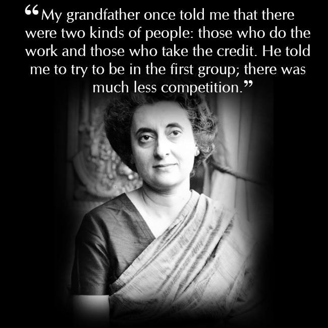 Indira Gandhi on being loyal to work