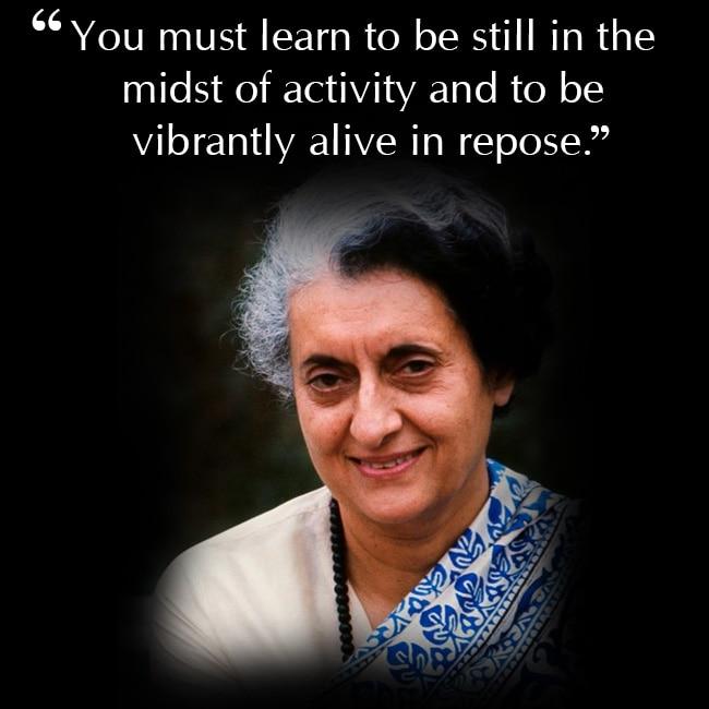 Indira Gandhi on being responsive