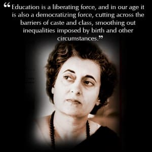 Indira Gandhi S Quote On Education Leadership And Inspirational Quotes By Indira Gandhi Politicians Photo Gallery India Com Photogallery