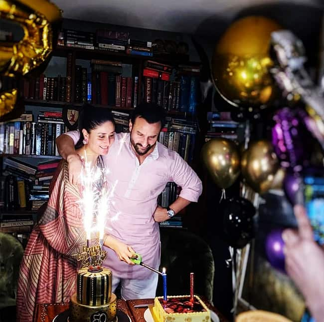 Inside pictures from Saif s 50th birthday