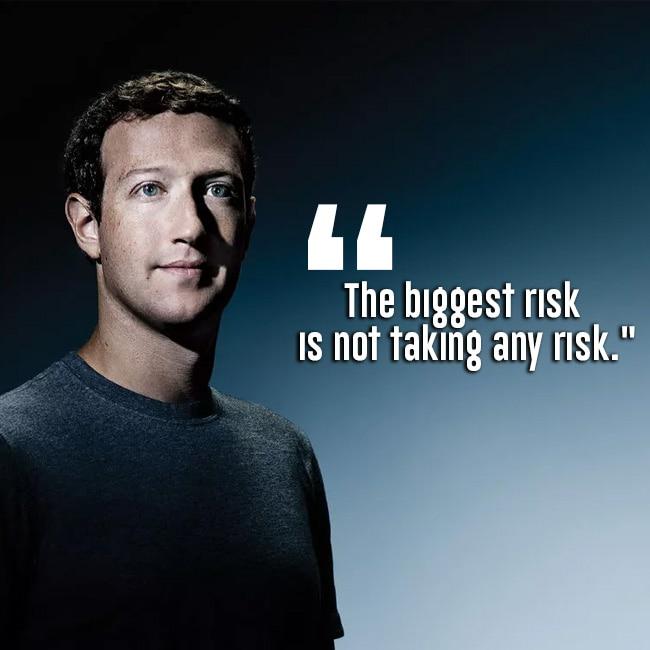 Inspirational quote by Mark Zuckerberg