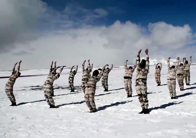 International Yoga Day in Ladakh