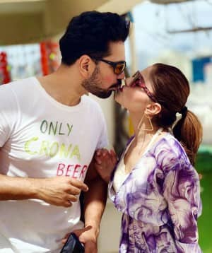 In PHOTOS: Rubina Dilaik-Abhinav Shukla Steal a Kiss on Holi And Fans Can't Stop Gushing