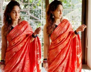 Aamir Khan's Daughter Ira Khan Looks Sexy in Her Red Saree That She Drapes by Herself on Special Occasion of Eid - See Photos