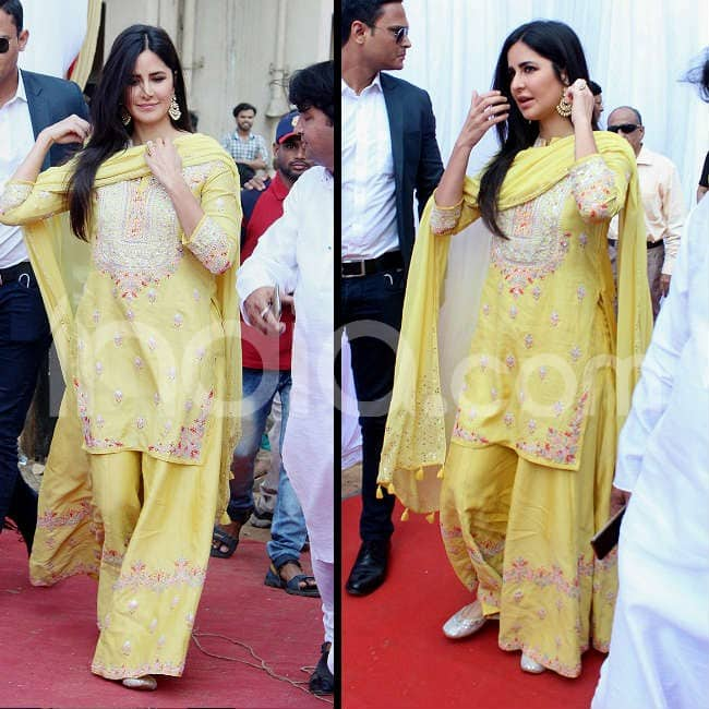 It was a yellow Anita Dongre number
