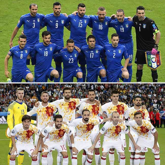 Italy beats Spain with 2 0 in UEFA EURO 2016    Round of 16