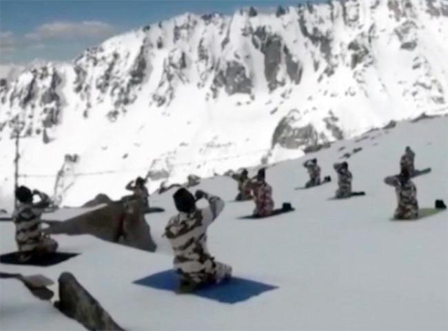 ITBP Troops in Mountainous Ladakh