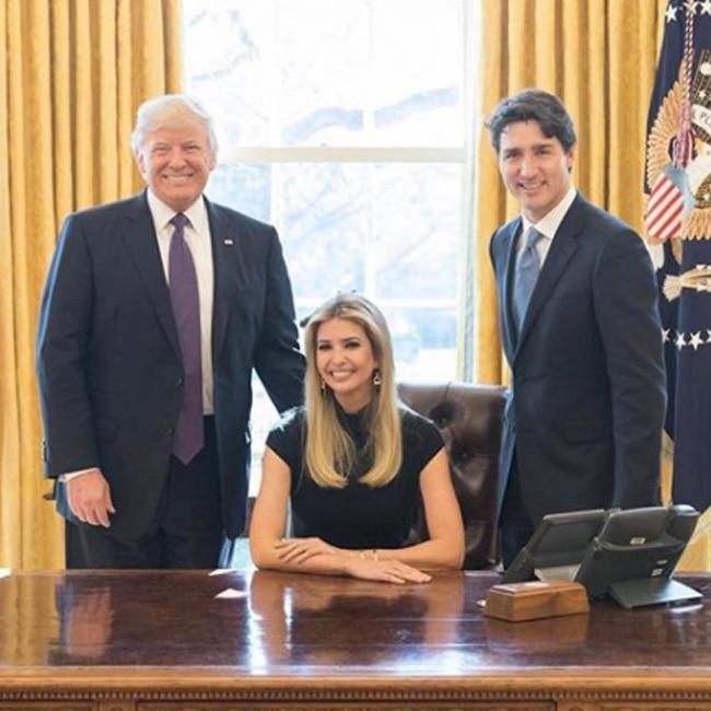 Ivanka Trump with father Donald Trump