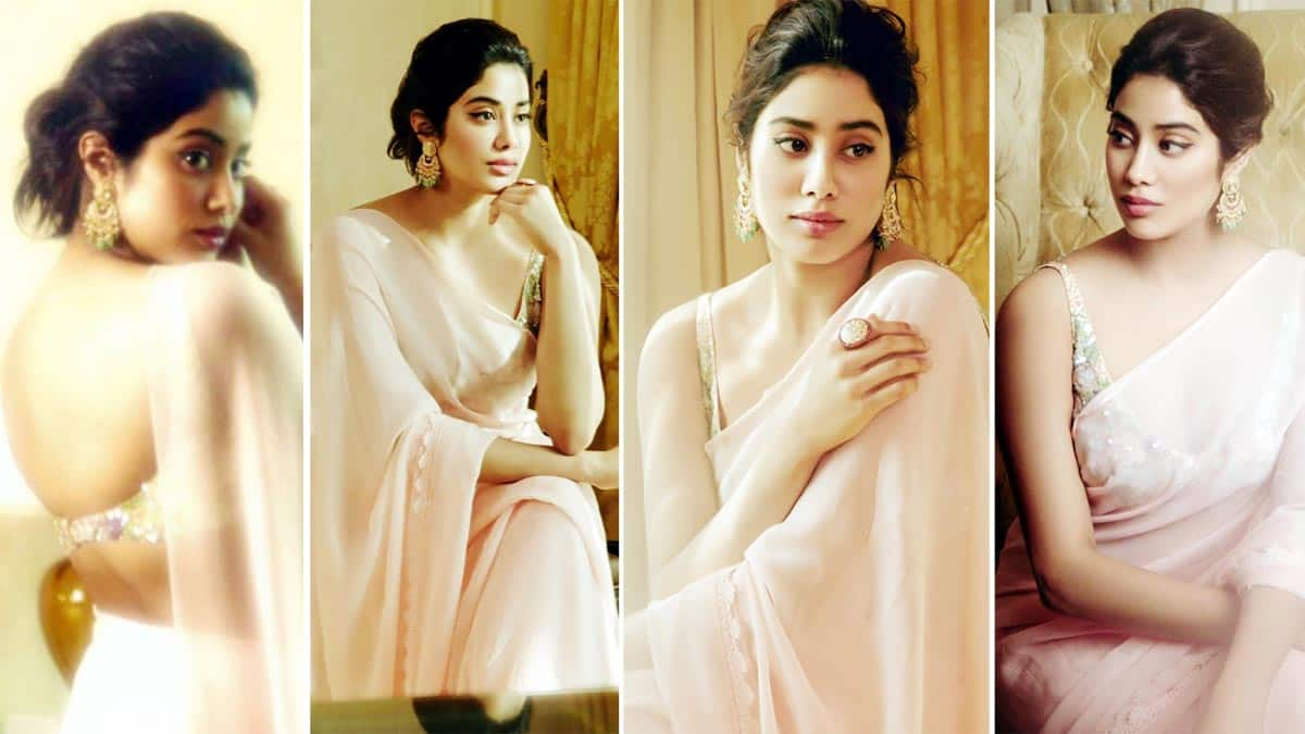 Janhvi Kapoor Dolls Up In Cream Chiffon Saree And It Will Remind You Of Sridevi