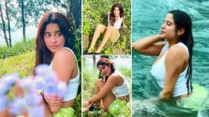 Janhvi Kapoor Takes a Dip in River, Goes For Trek, Walk Into The Woods With Girl Gang- See Photos