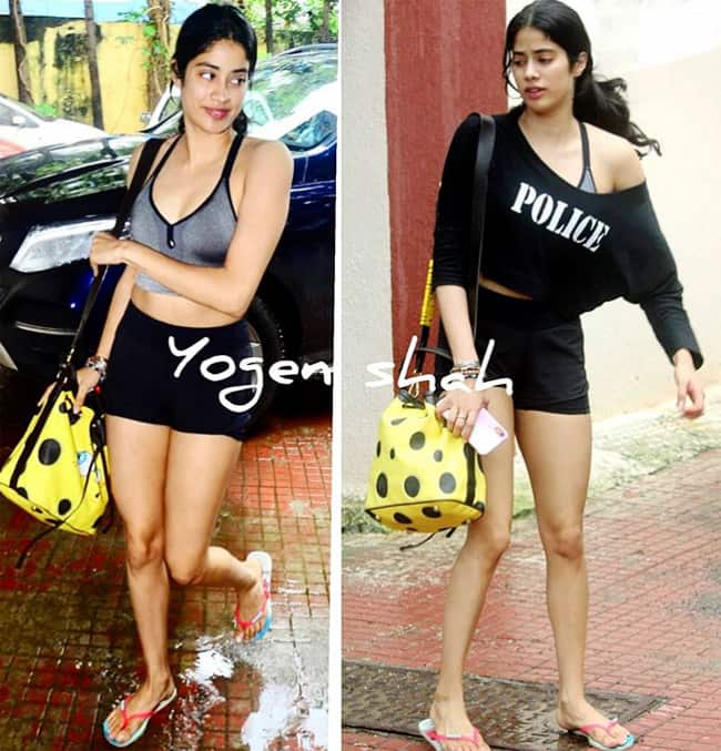 Janhvi Kapoor snapped outside the gym