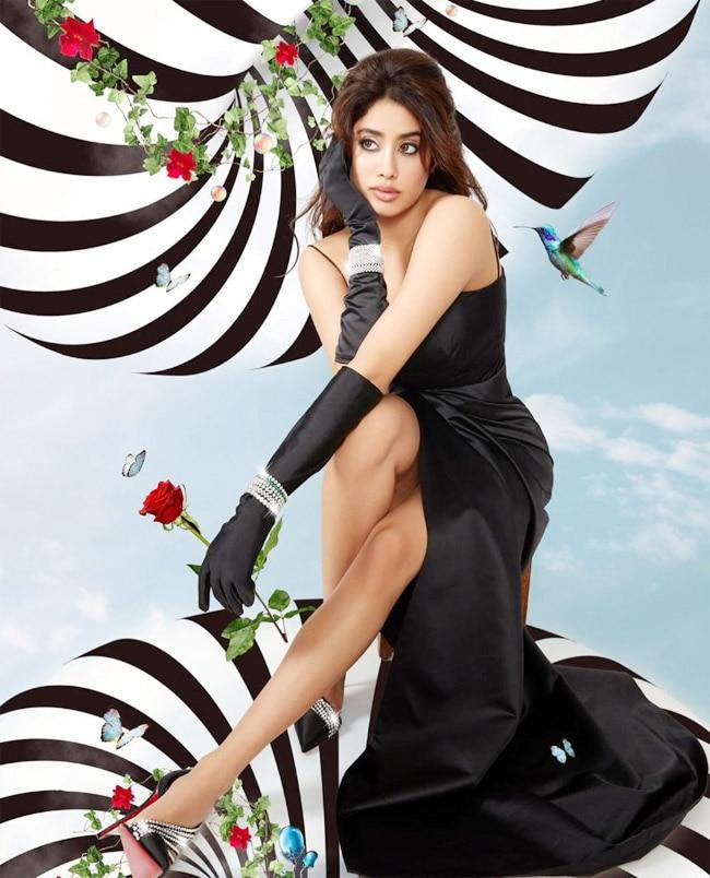 Janhvi Kapoor wears a gorgeous sparkly Louboutin heels