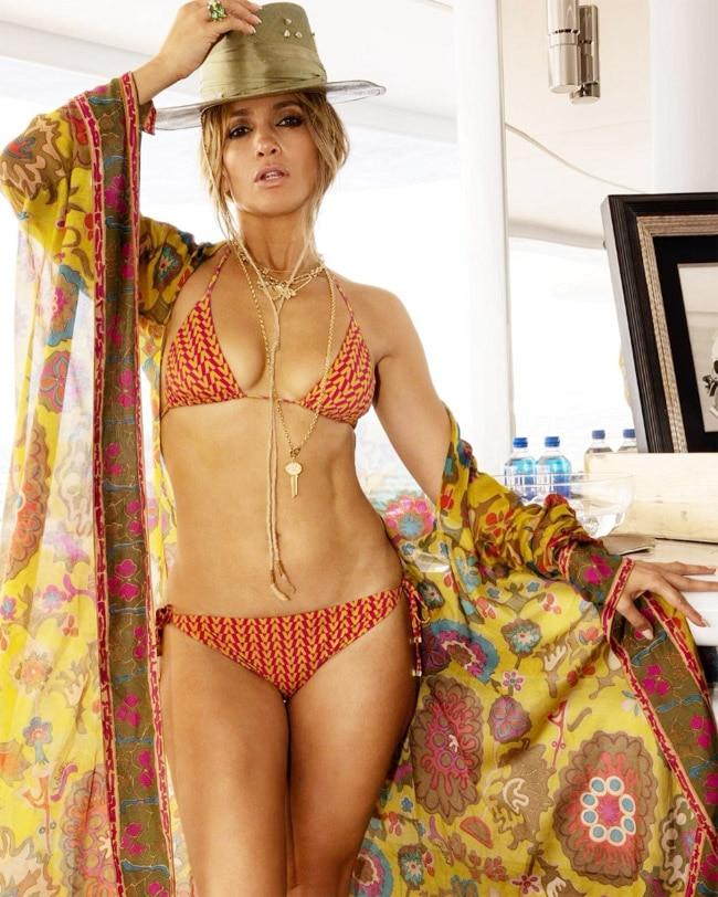 Jennifer Lopez Turns Up The Heat In Orange Bikini