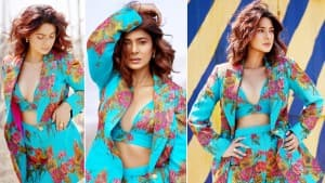 Jennifer Winget Exodes Hotness in Blue Floral Co-Ord Dress As She Flaunts Her Sensuous Avatar | See Photos