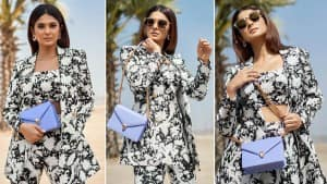 Jennifer Winget in Floral Printed Pantsuit Channels Her Inner Boss Lady| View PHOTOS