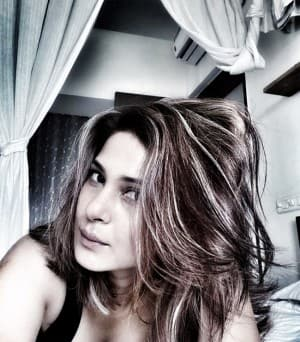 Jennifer Winget Goes Sultry in Black Tank Top And Killer Expressions in Latest Monochrome Pictures
