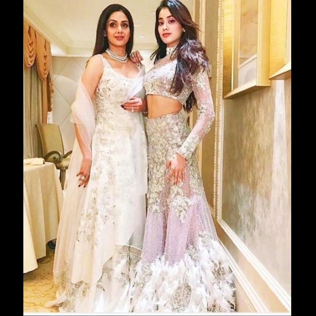 Jhanvi Kapoor  and Sridevi   s stylish appearance