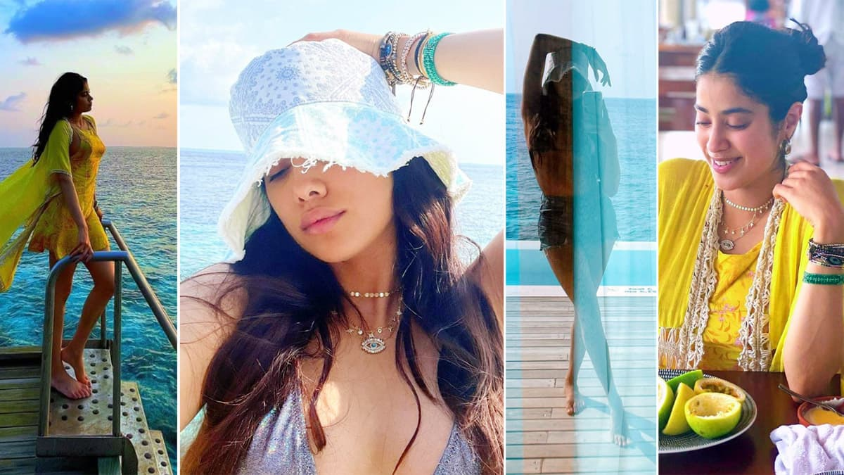 Jhanvi Kapoor is holidaying in the Maldives