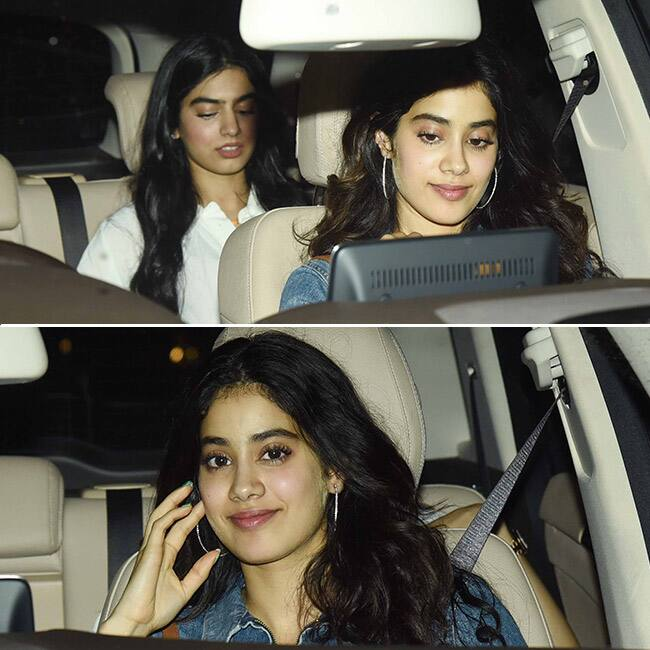 Jhanvi Kapoor with sister Khushi Kapoor at special screening of Mom
