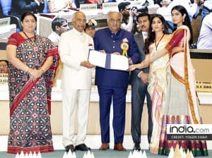 65th National Film Awards: Jhanvi Kapoor, Boney Kapoor receive the honor on behalf of Sridevi