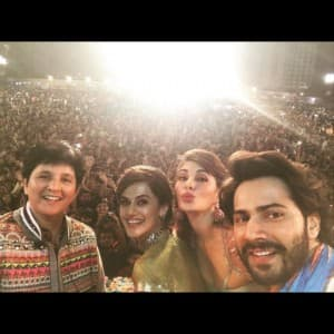 Best pics of Varun Dhawan, Taapsee Pannu and Jacqueline Fernandez during Judwaa 2 promotions