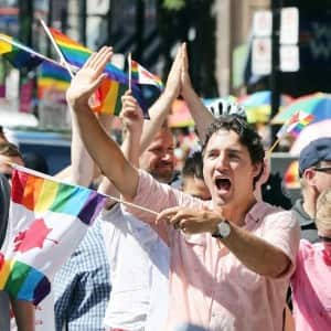 Justin Trudeau became the first Canadian Prime Minister to march in Toronto's Gay Pride parade!