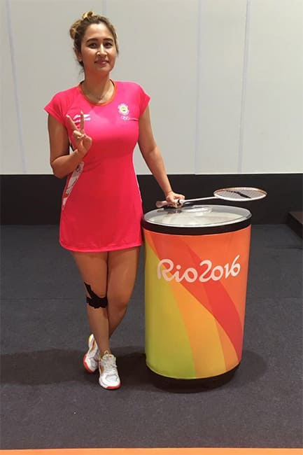 Jwala Gutta poses for a beautiful picture during Rio Olympics 2016