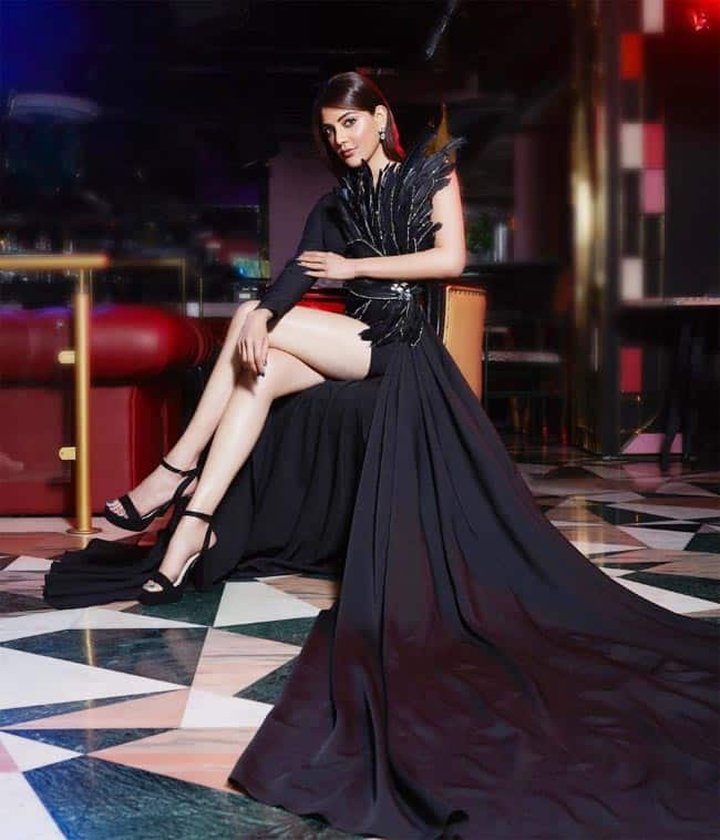 Kajal Aggarwal Oozes Oomph In Sexy Black Dress