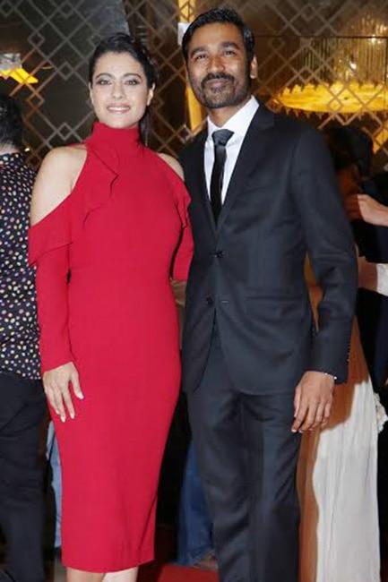 Kajol and Dhanish at VIP 2 trailer launch