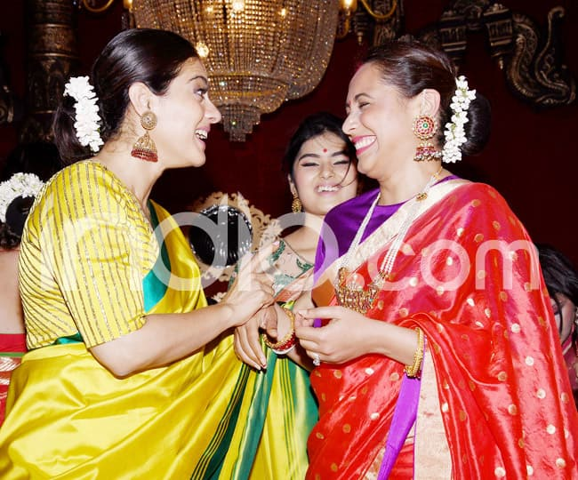 Kajol And Rani Mukerjee End Their Fight  Reunite During Durga Puja