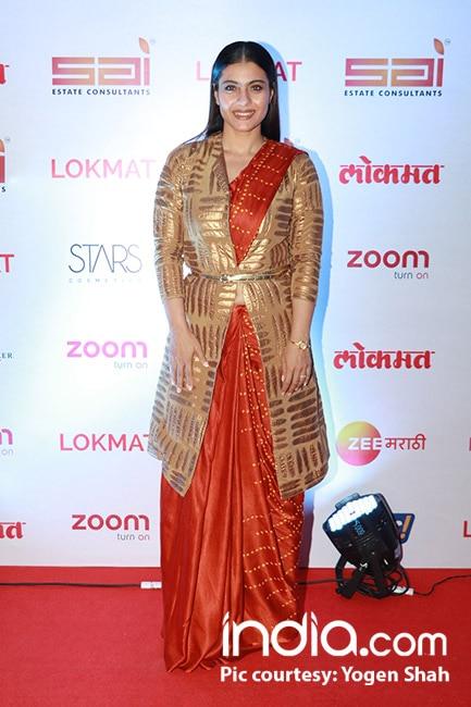 Kajol snapped at red carpet of Lokmat Most Stylish Awards 2017