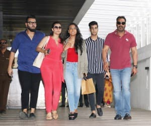 Kajol Spotted With Husband Ajay Devgn And Daughter Nysa Devgn Post Lunch in Bandra