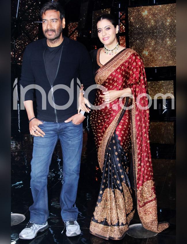 Kajol wears a stunning Ritu Kumar saree