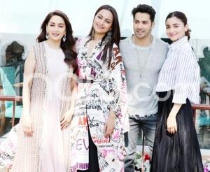 Kalank: Madhuri Dixit Nene, Sonakshi Sinha, Alia Bhatt, Varun Dhawan Have Fun as They Promote Their Film