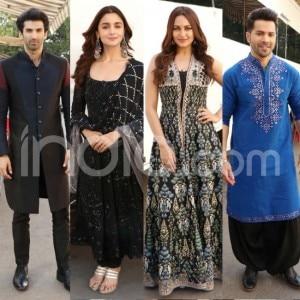 Alia Bhatt-Sonakshi Sinha Twin in Black, Aditya Roy Kapur-Varun Dhawan Look Dapper
