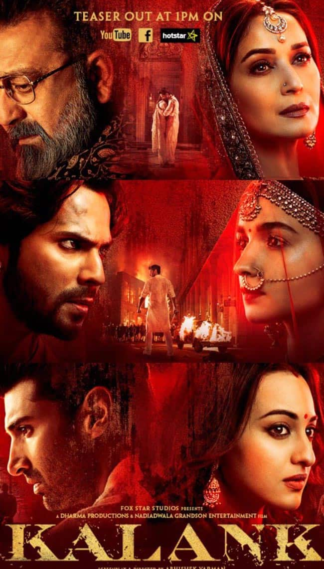 Kalank Teaser  The multi starrer epic saga will blow your mind