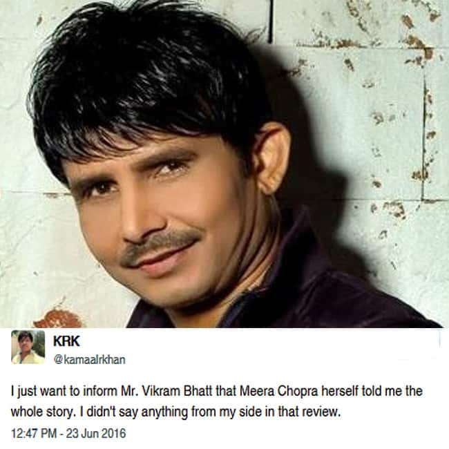 Kamaal R Khan takes on Twitter after Vikram Bhatt slaps legal notice