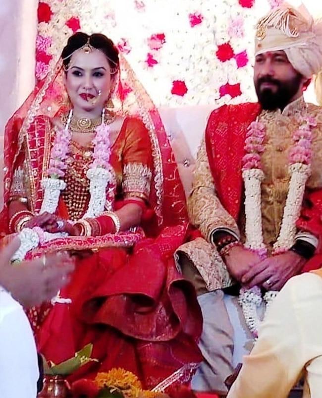 Kamya Punjabi  Shalabh Dang Look Stunning on Their Special Day