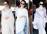 7 Times Kangana Aced Airport Look in Saree