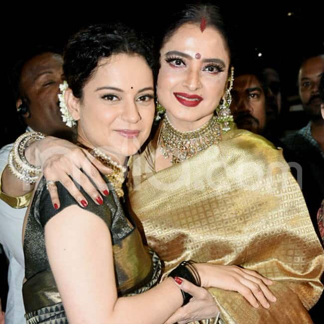 Kangana Ranaut and Rekha get clicked at an event