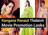 Kangana Ranaut Makes Jaws Drop With Her Promotional Looks For Thalaivii, One Saree at a Time! See Pics