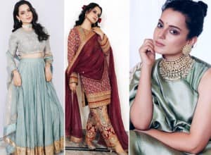 Kangana Ranaut Wears Her Own Jewellery With Gorgeous Pastel Blue Lehenga at Cousin's Wedding