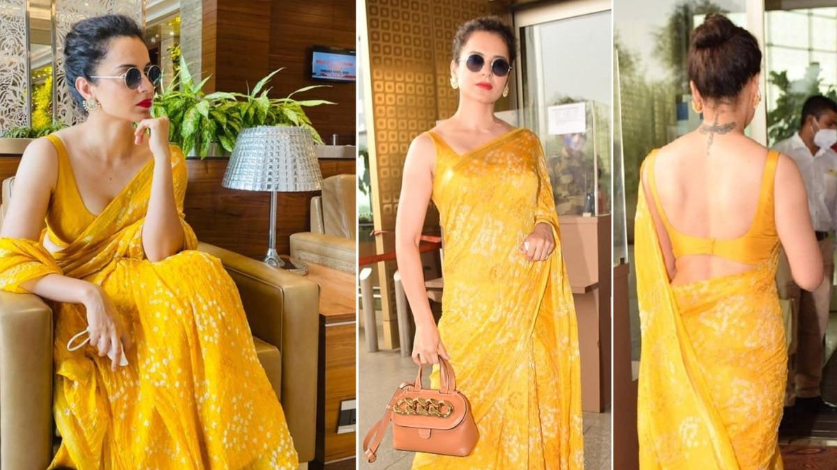 Kangana Ranaut wears a bandhani saree in new pictures