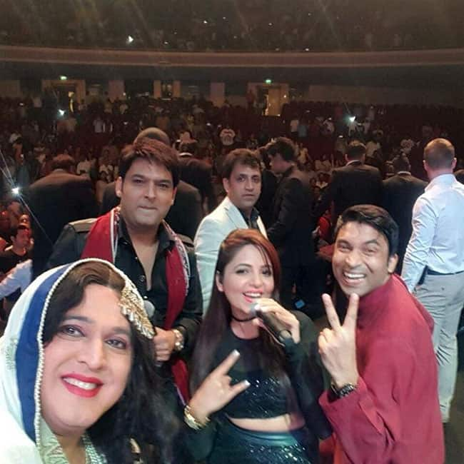 Kapil Sharma with his team in Italy