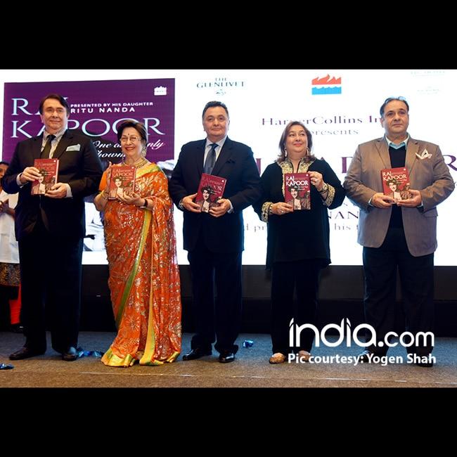Kapoor family at Ritu Nanda   s book launch on Raj Kapoor