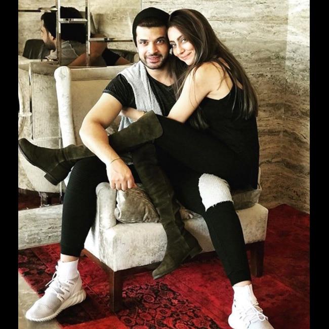 Karan Kundra with girlfriend Anushka Dandekar
