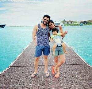 Karan Patel, Wife Ankita Bhargava And Daughter Enjoys Holiday at Maldives, Pics From Tropical Island  Are Here
