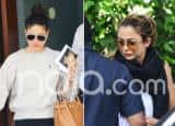 Kareena Kapoor Khan And Amrita Arora Return From London